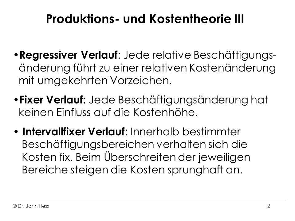 Produktions- und Kostentheorie III
