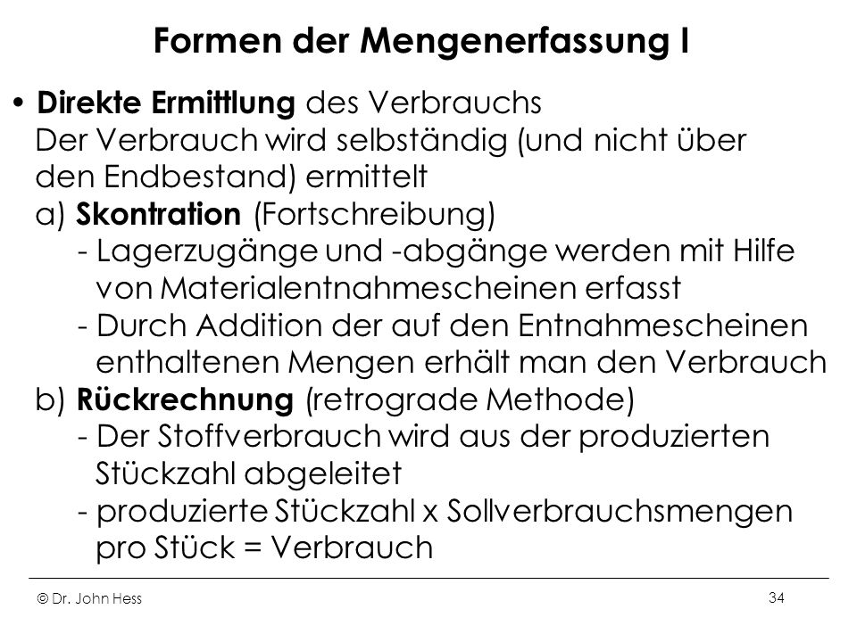 Formen der Mengenerfassung I