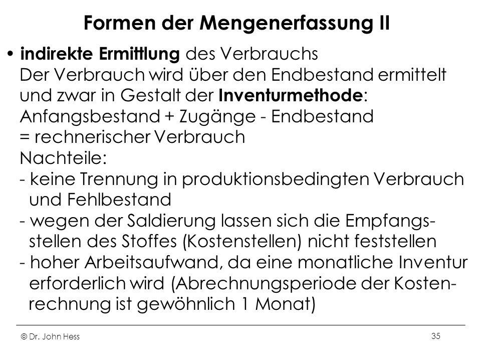 Formen der Mengenerfassung II