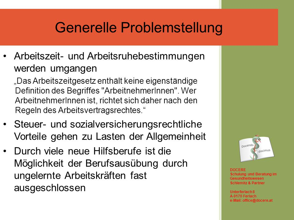 Generelle Problemstellung