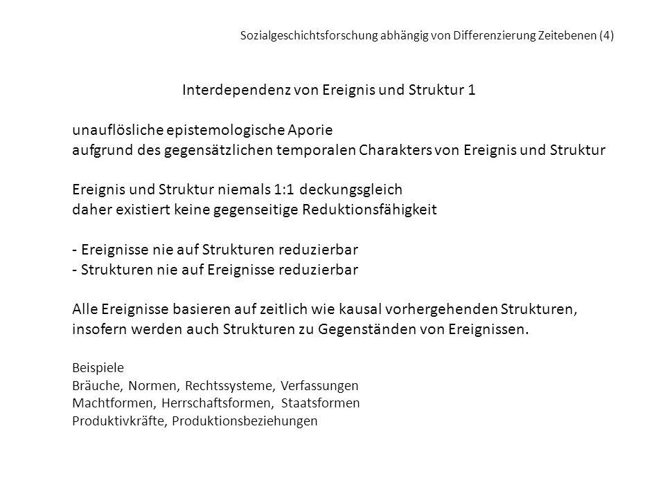 Interdependenz von Ereignis und Struktur 1
