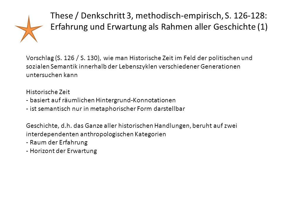 These / Denkschritt 3, methodisch-empirisch, S