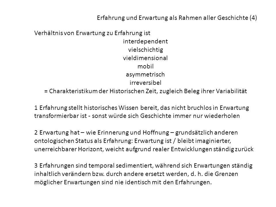 Erfahrung und Erwartung als Rahmen aller Geschichte (4)