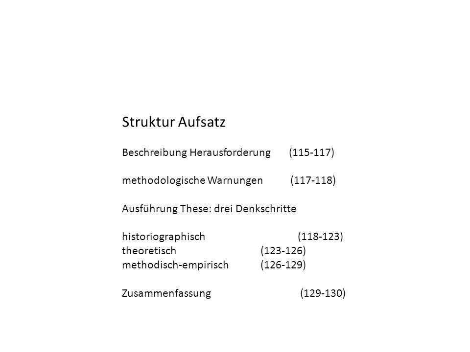 Struktur Aufsatz Beschreibung Herausforderung (115-117)