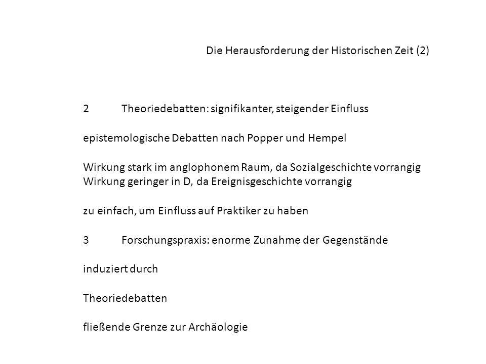Die Herausforderung der Historischen Zeit (2)
