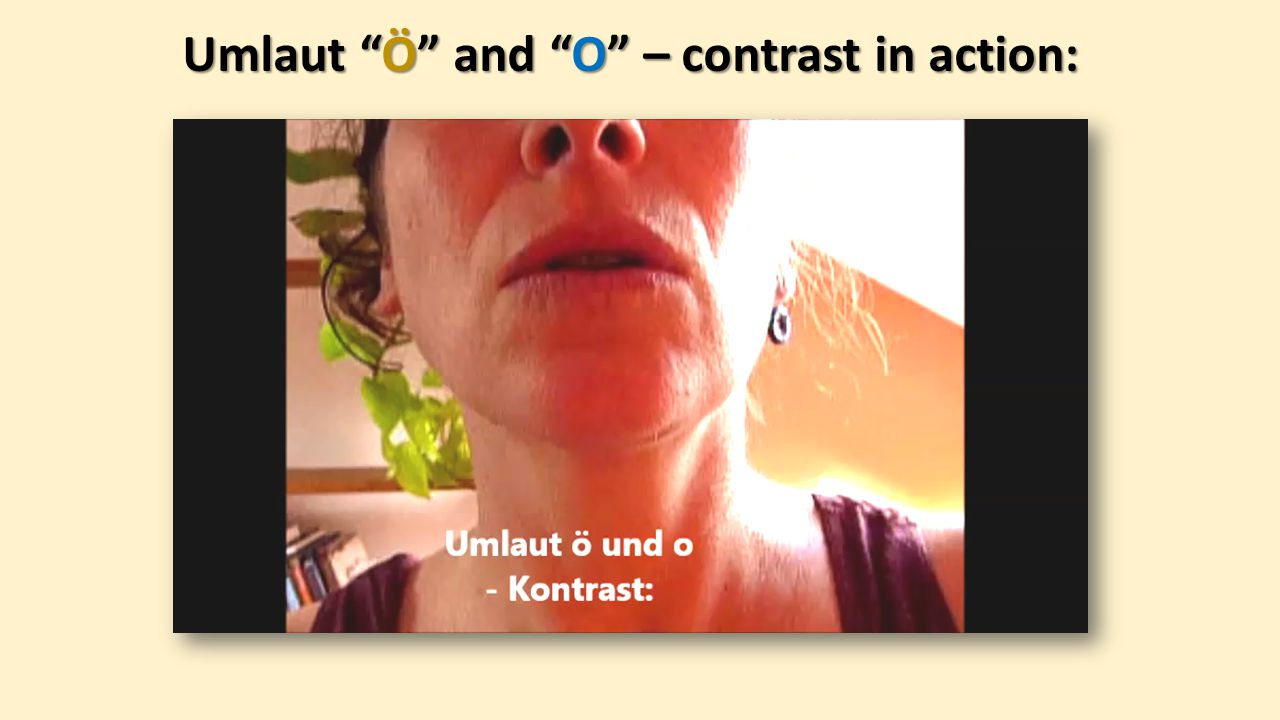 Umlaut Ö and O – contrast in action: