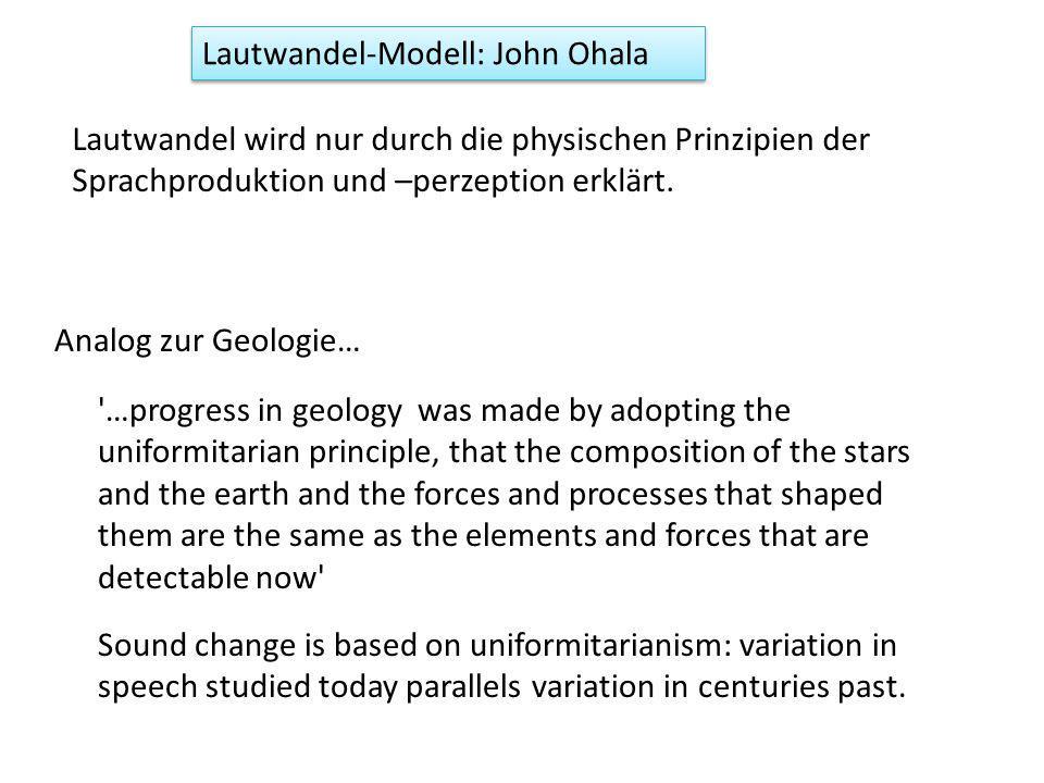 Lautwandel-Modell: John Ohala