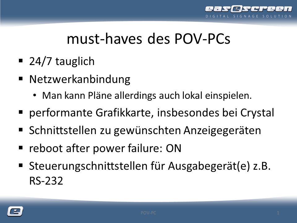 must-haves des POV-PCs