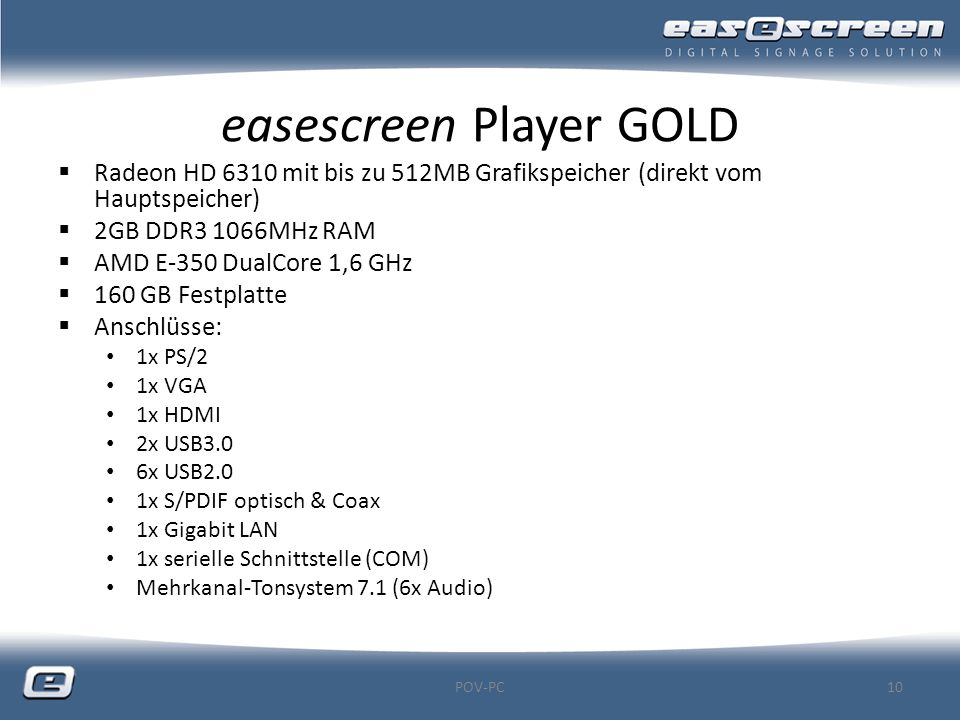 easescreen Player GOLD