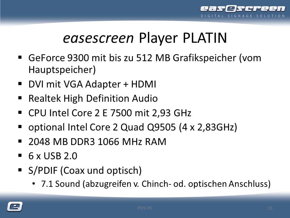 easescreen Player PLATIN