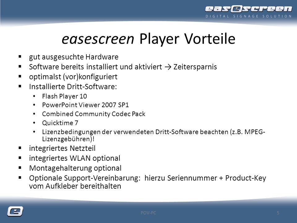 easescreen Player Vorteile