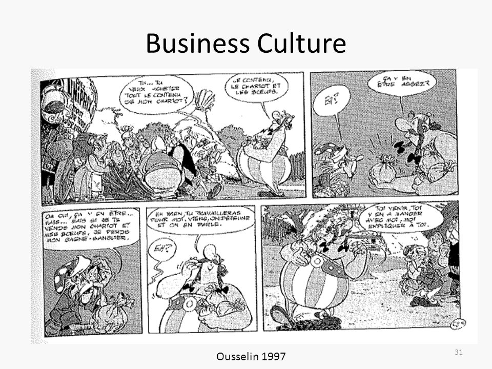 Business Culture Ousselin 1997