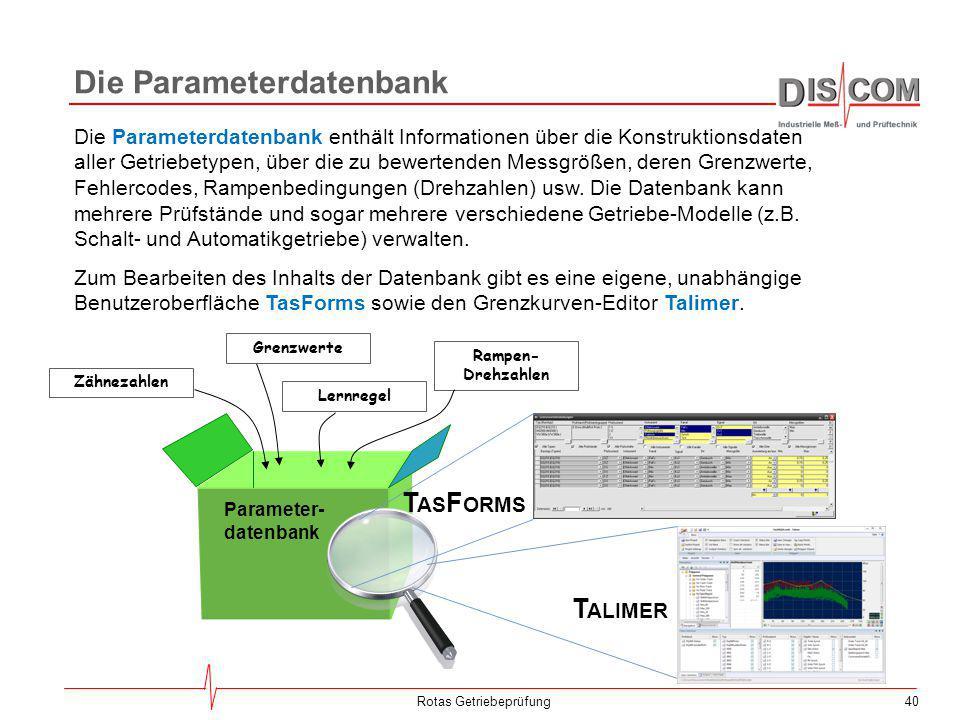 Die Parameterdatenbank