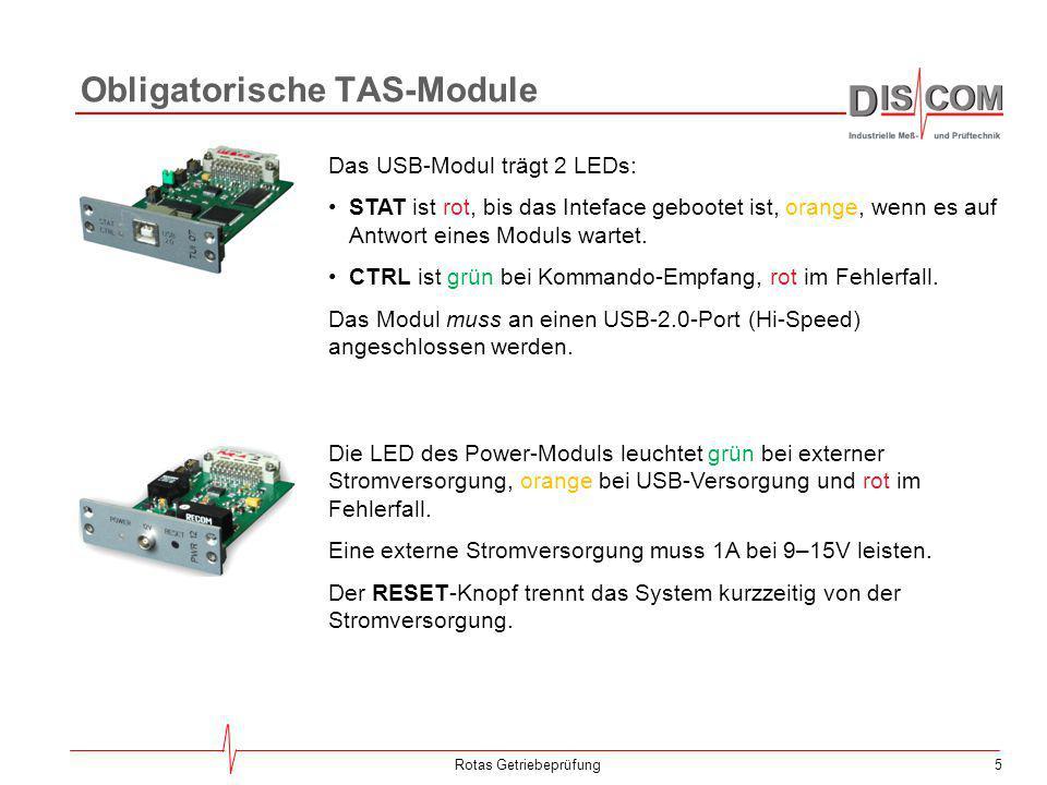 Obligatorische TAS-Module