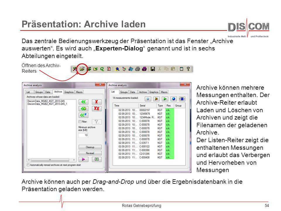 Präsentation: Archive laden