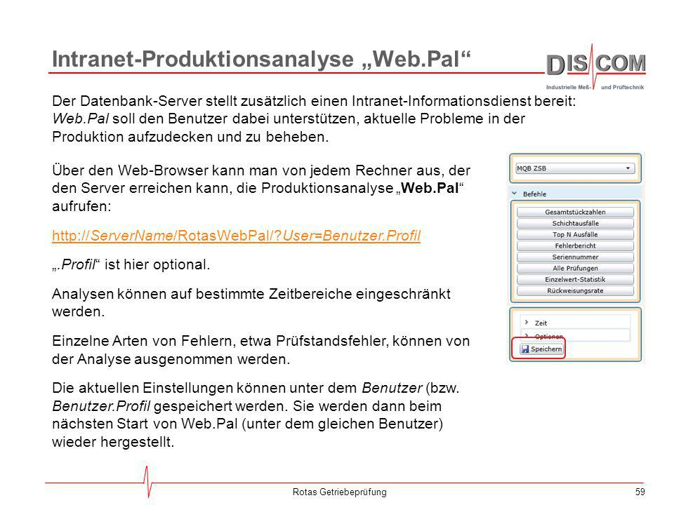 "Intranet-Produktionsanalyse ""Web.Pal"