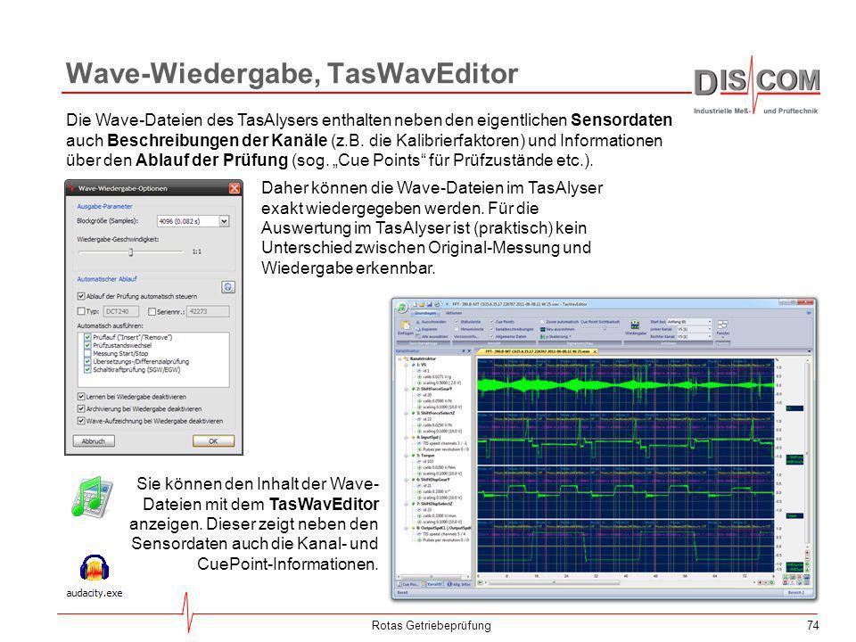 Wave-Wiedergabe, TasWavEditor