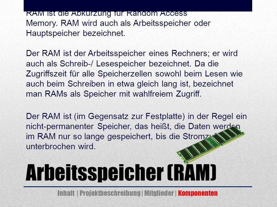 Arbeitsspeicher (RAM)