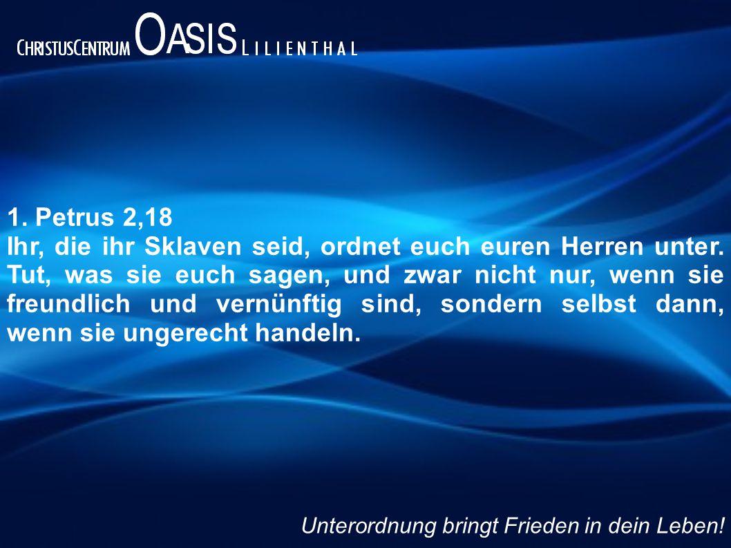 1. Petrus 2,18