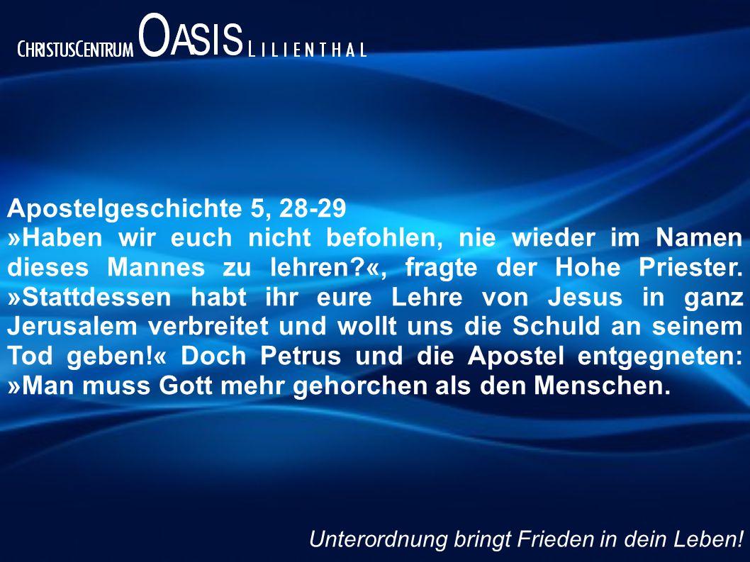 Apostelgeschichte 5, 28-29