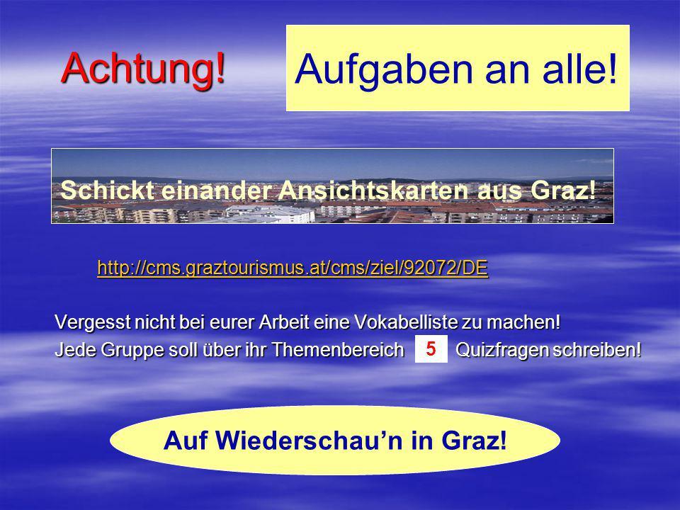 Auf Wiederschau'n in Graz!