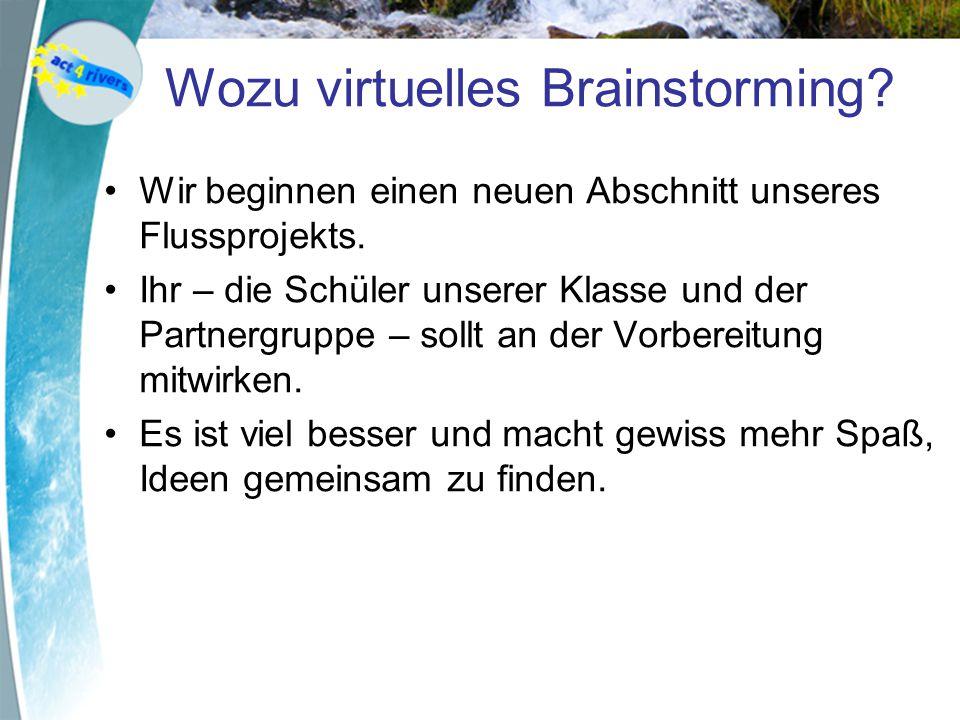 Wozu virtuelles Brainstorming
