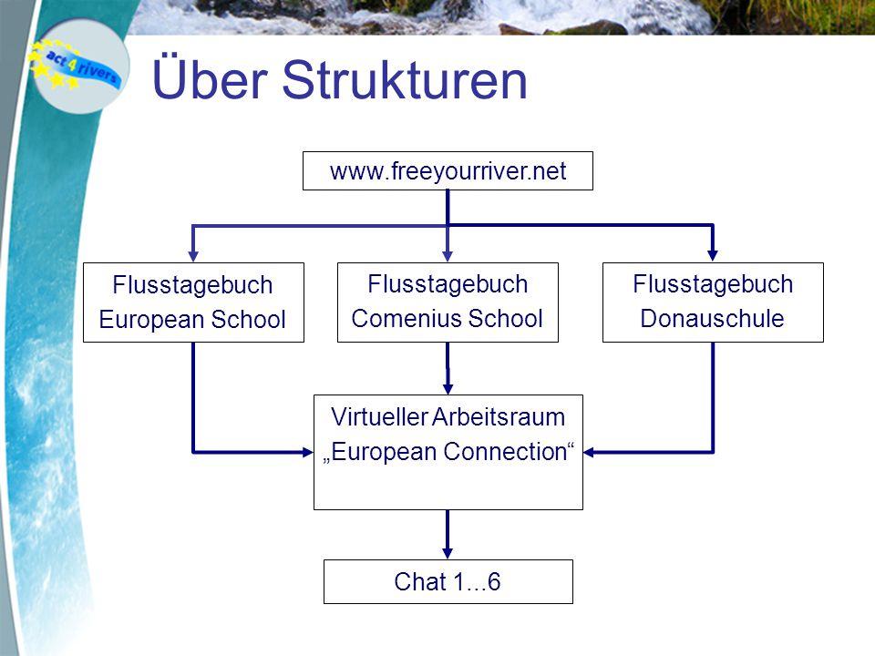 Über Strukturen www.freeyourriver.net Flusstagebuch European School