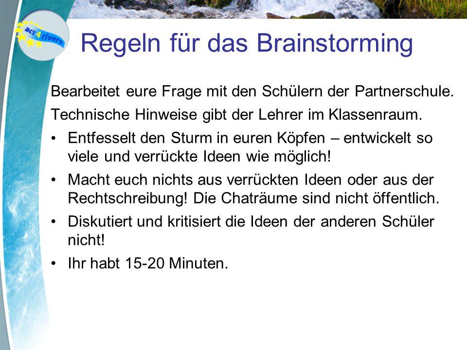 Regeln für das Brainstorming