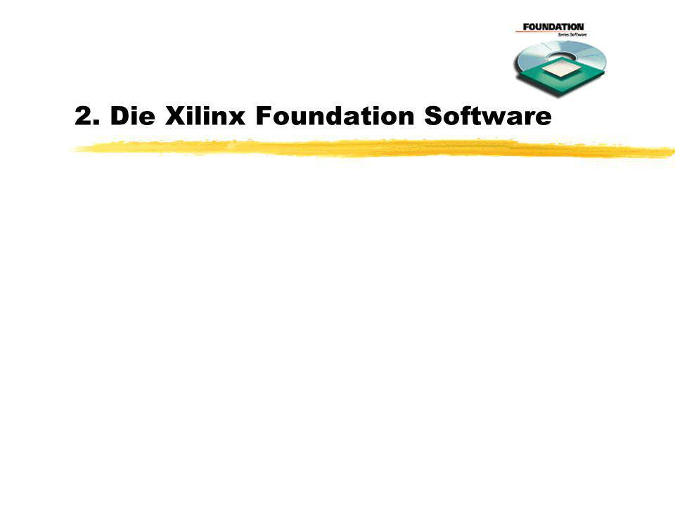 2. Die Xilinx Foundation Software
