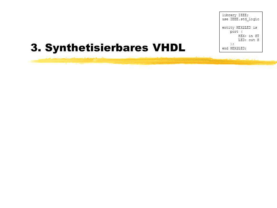 3. Synthetisierbares VHDL