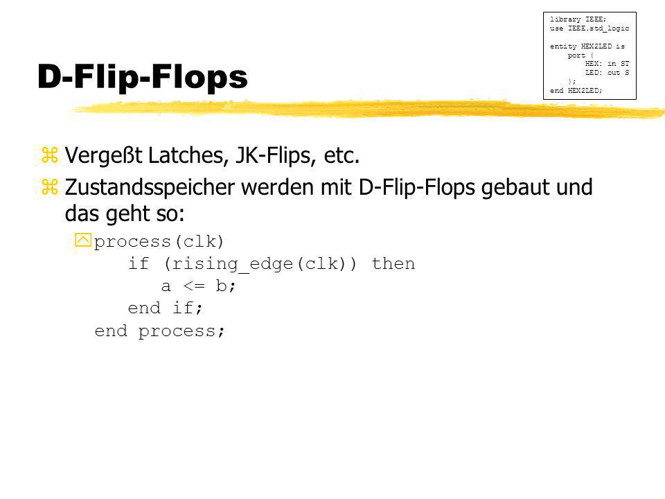 D-Flip-Flops Vergeßt Latches, JK-Flips, etc.