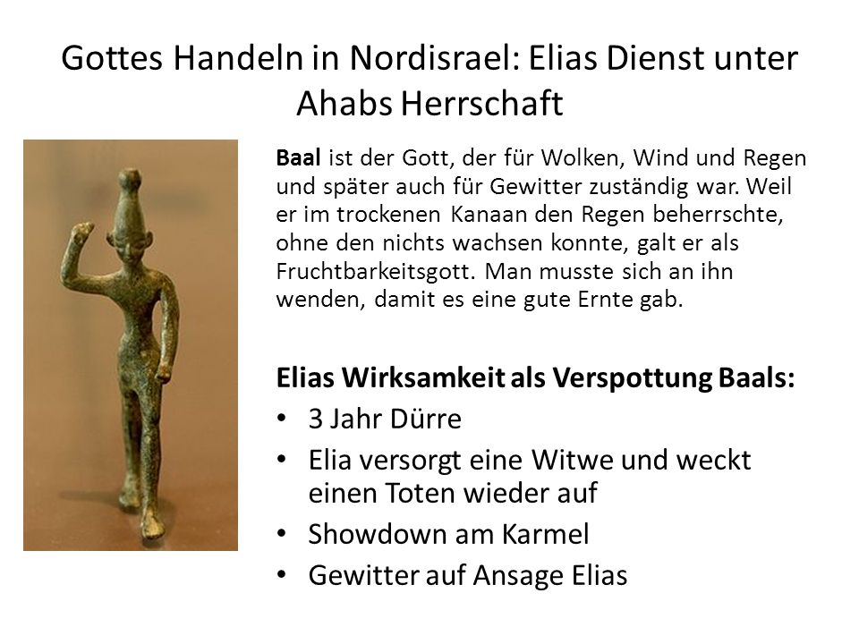 Gottes Handeln in Nordisrael: Elias Dienst unter Ahabs Herrschaft