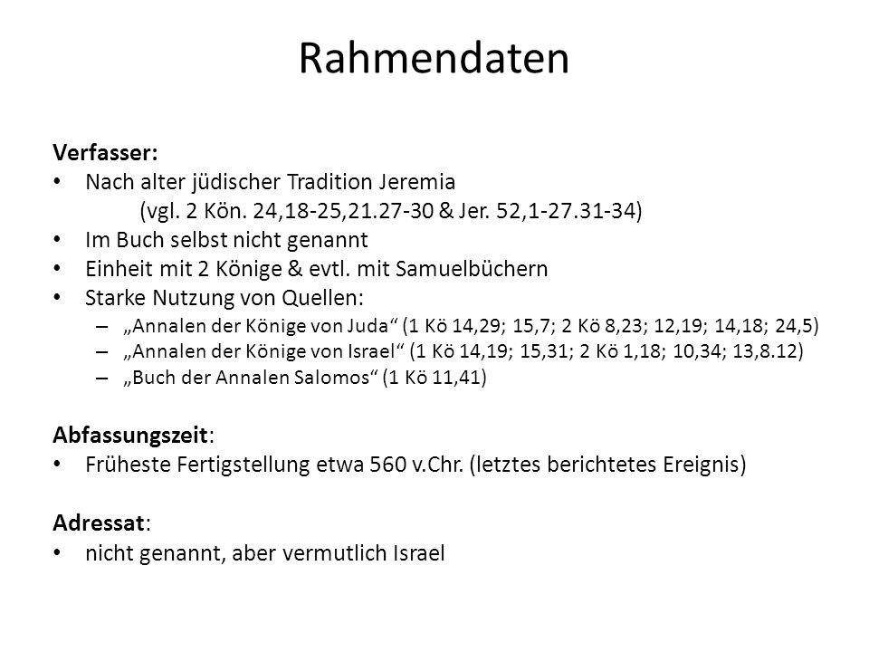 Rahmendaten Verfasser: Abfassungszeit: Adressat: