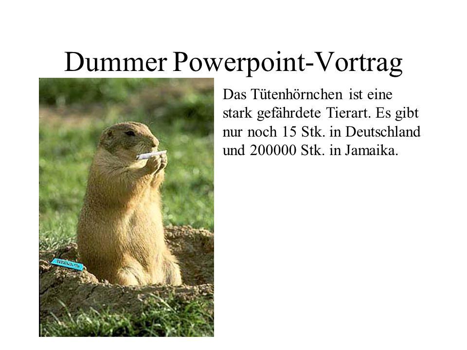 Dummer Powerpoint-Vortrag