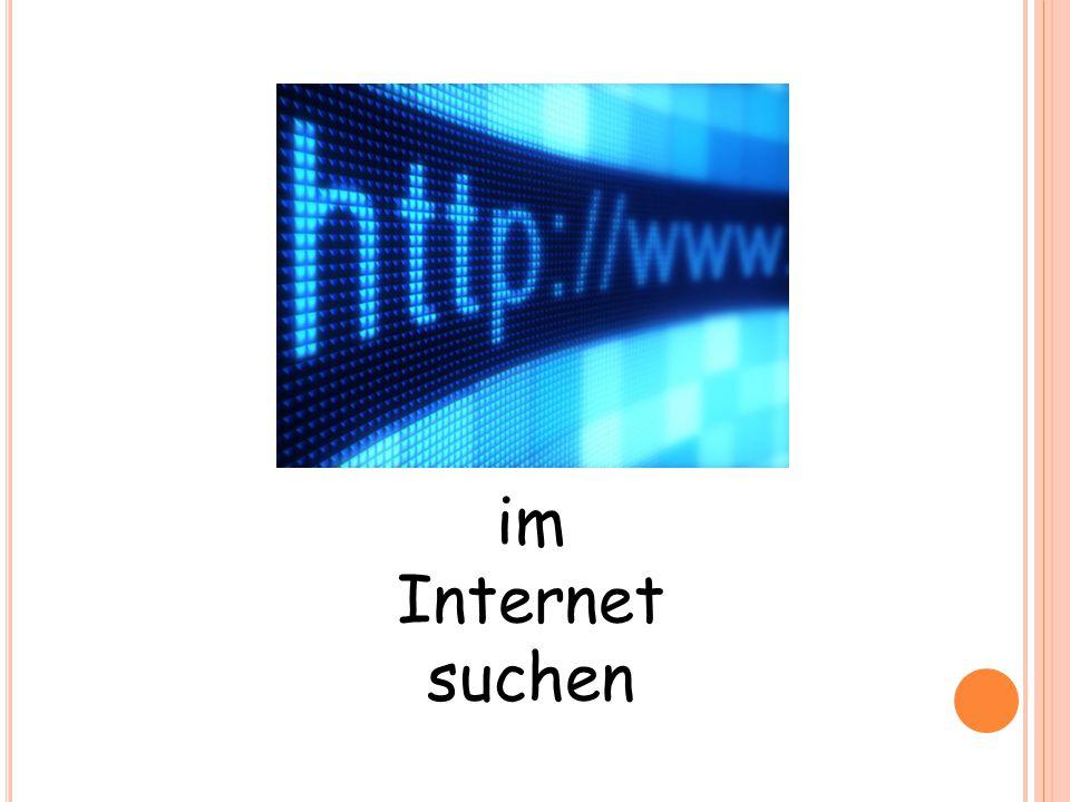 im Internet suchen