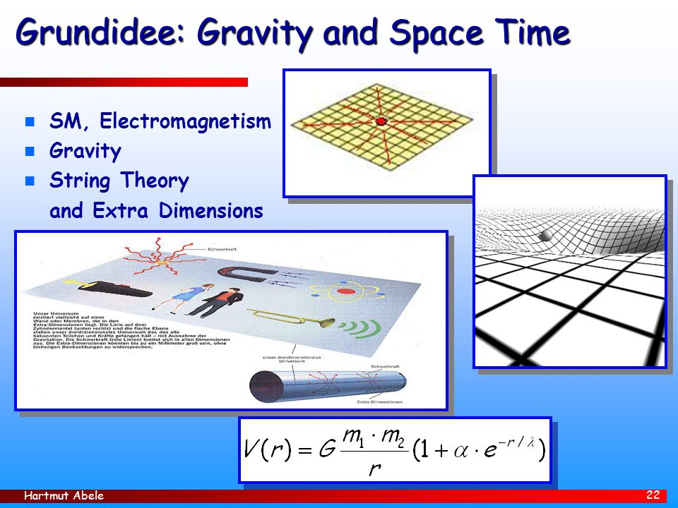 Grundidee: Gravity and Space Time