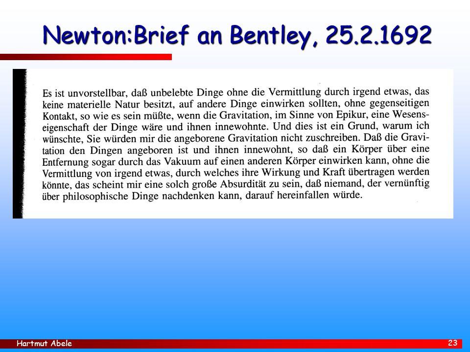 Newton:Brief an Bentley, 25.2.1692