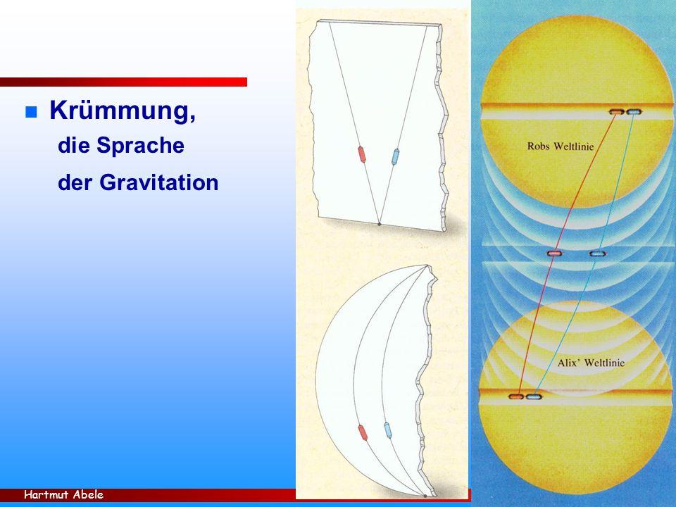 Krümmung, die Sprache der Gravitation Hartmut Abele