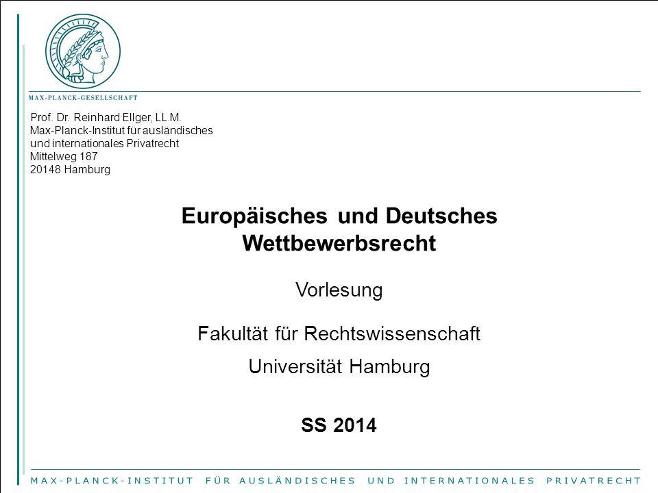 Europäisches und Deutsches Wettbewerbsrecht