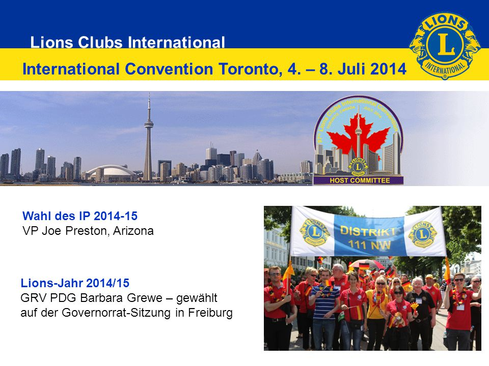 International Convention Toronto, 4. – 8. Juli 2014