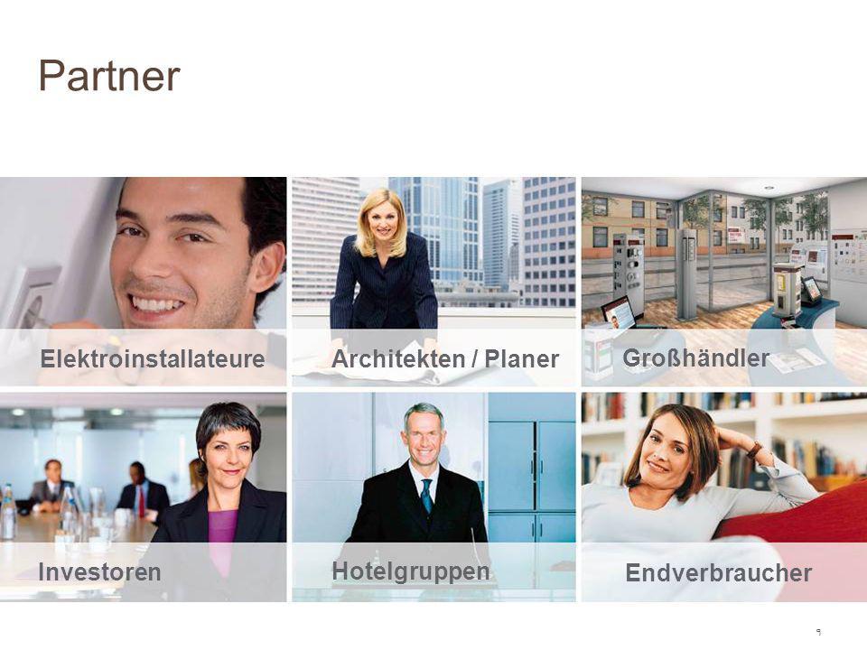 Partner Elektroinstallateure Architekten / Planer Großhändler