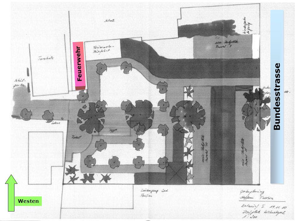 Lageplan Dorfplatz Steffani Tuschen Bundesstrasse