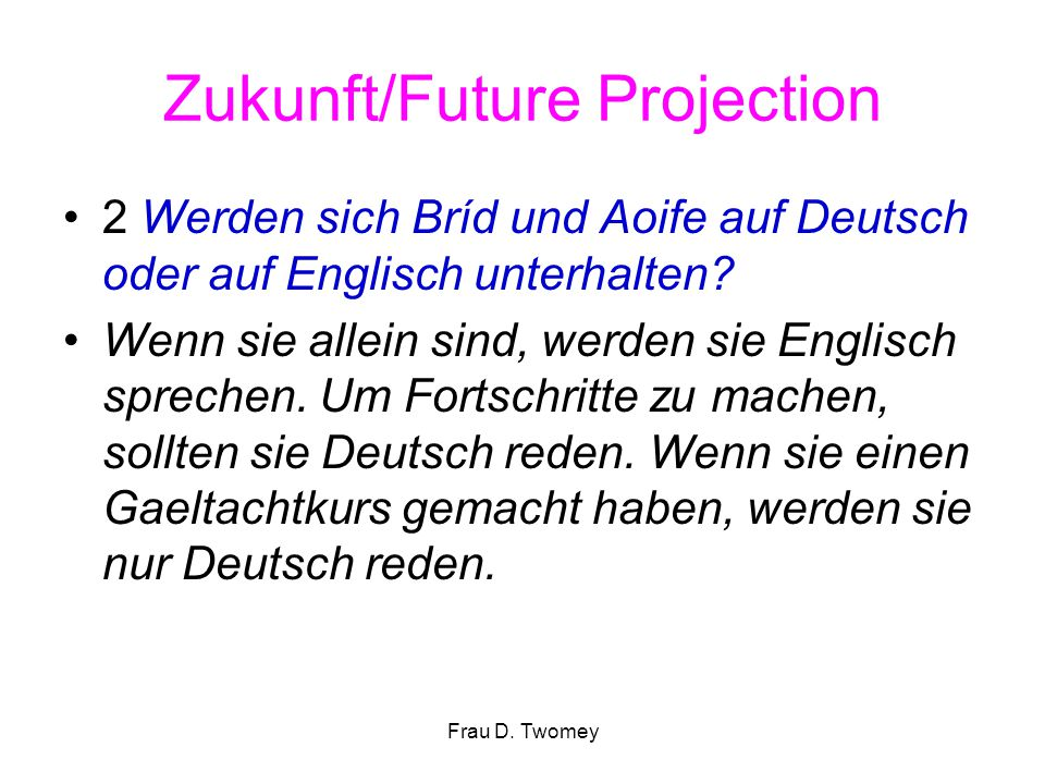 Zukunft/Future Projection