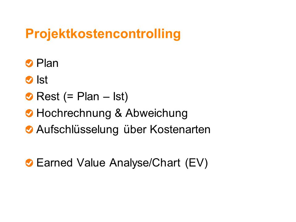Projektkostencontrolling