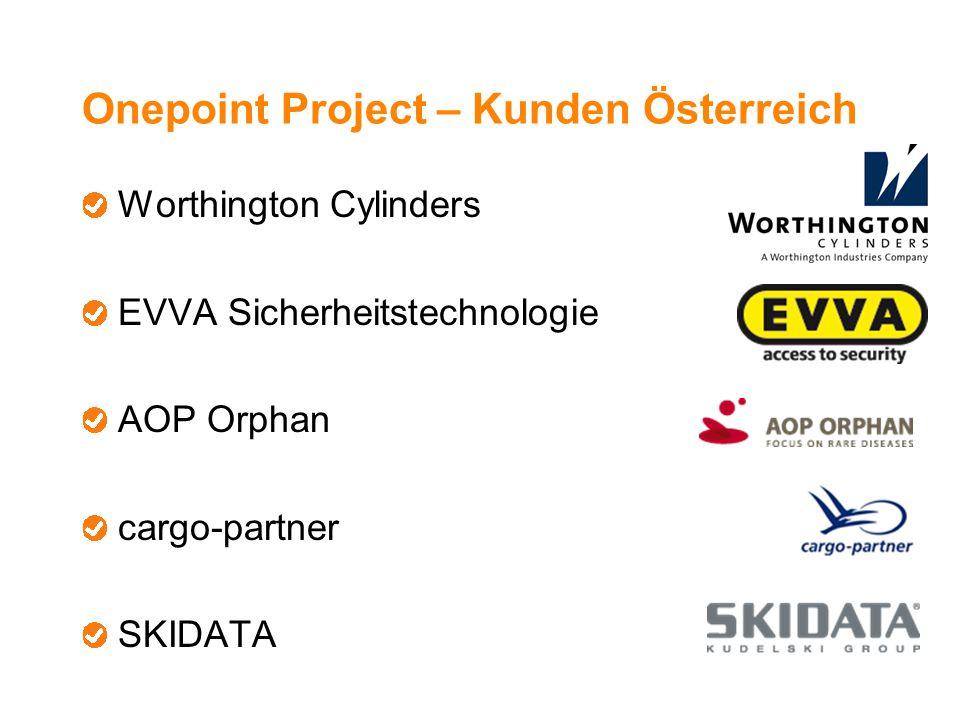 Onepoint Project – Kunden Österreich