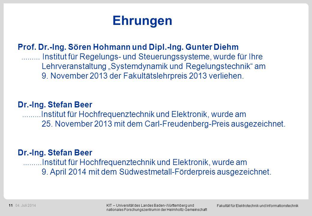 Ehrungen Prof. h.c. Dr.-Ing. Joachim Knebel