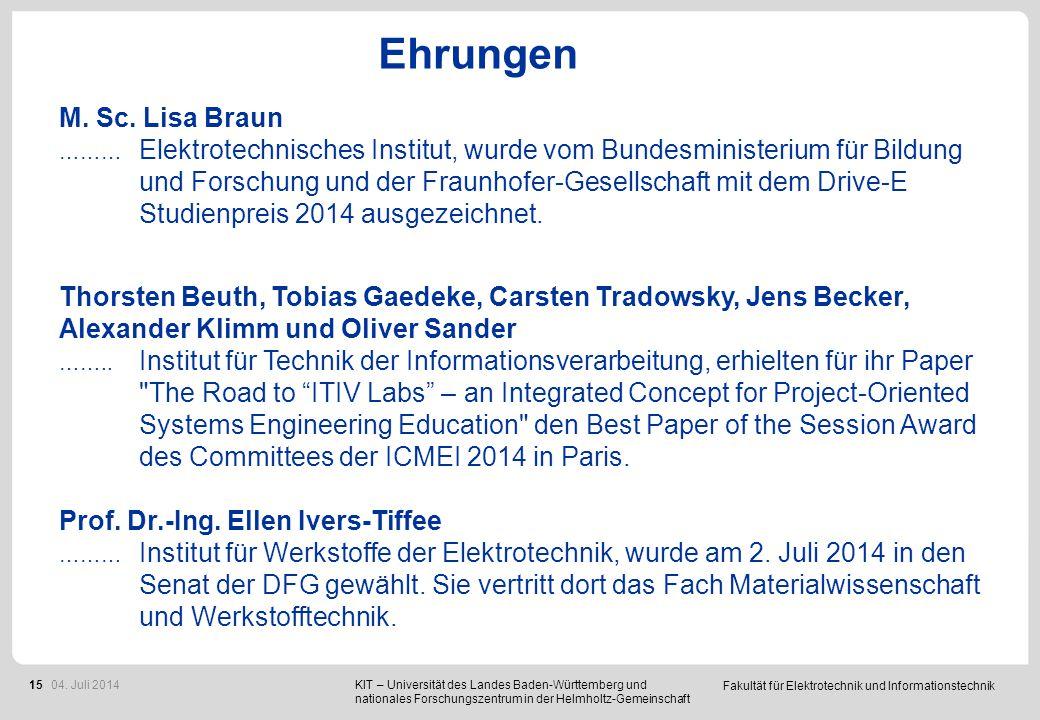 Deutschlandstipendium 2013/2014