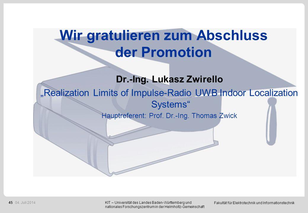 Preisverleihung Bachelorpreise Diplom- und Masterpreise 04. Juli 2014