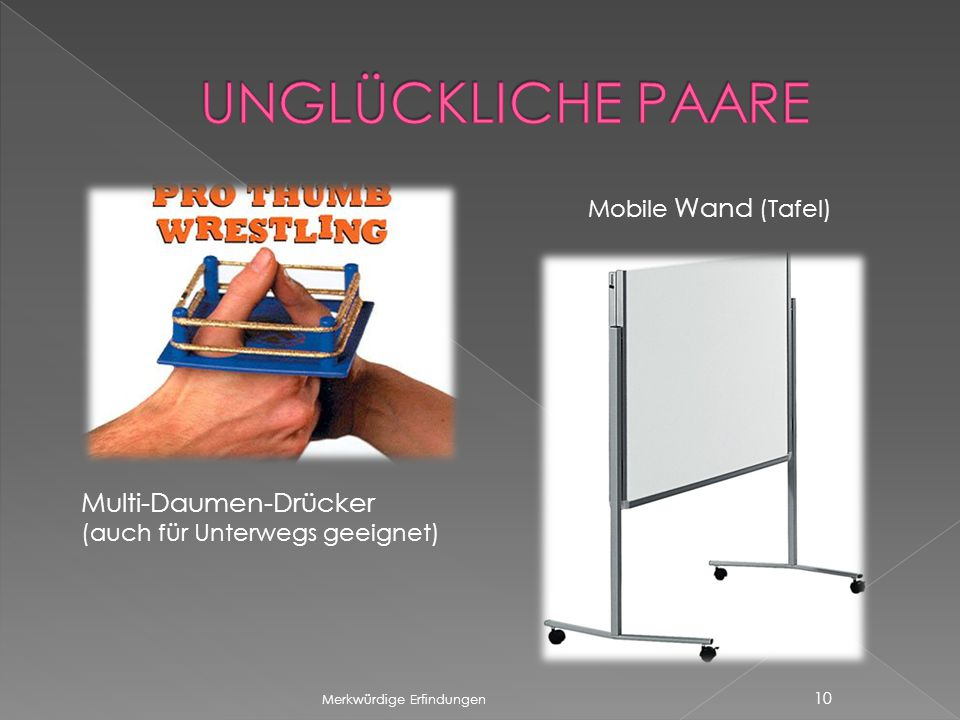 UNGLÜCKLICHE PAARE Multi-Daumen-Drücker Mobile Wand (Tafel)