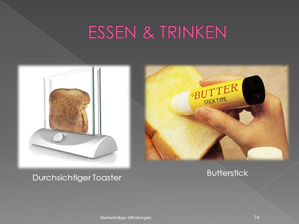 ESSEN & TRINKEN Butterstick Durchsichtiger Toaster